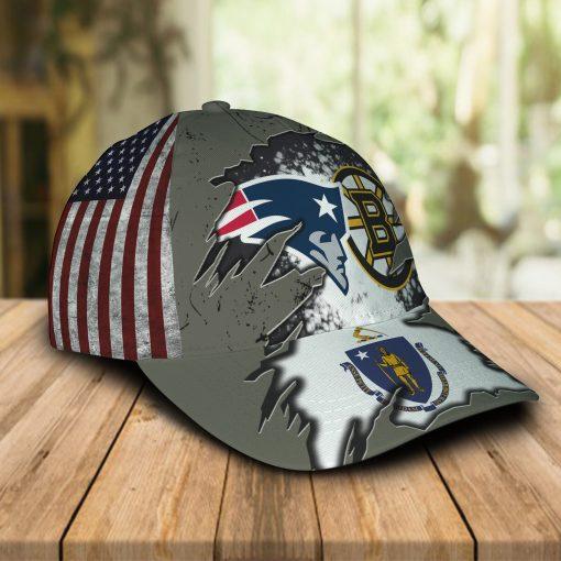 New England Patriots And Boston Bruins Caps & Hats
