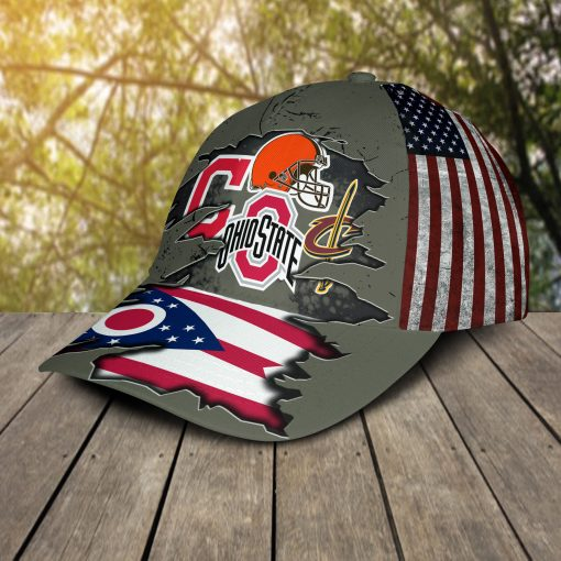Ohio State Buckeyes, Cleveland Cavaliers, Cleveland Indians, Cleveland Browns Sports Teams Cap
