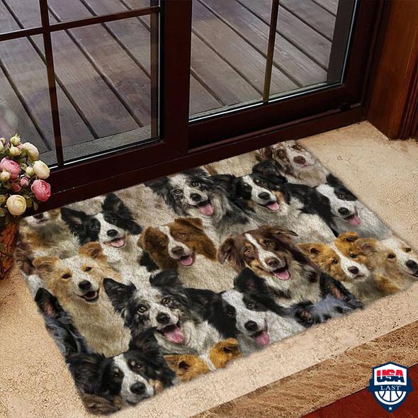 A Bunch Of Border Collies Doormat 1