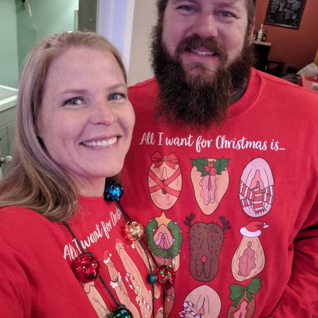Penis Vagina All I Want For Christmas Sweater Couple Sweatshirt