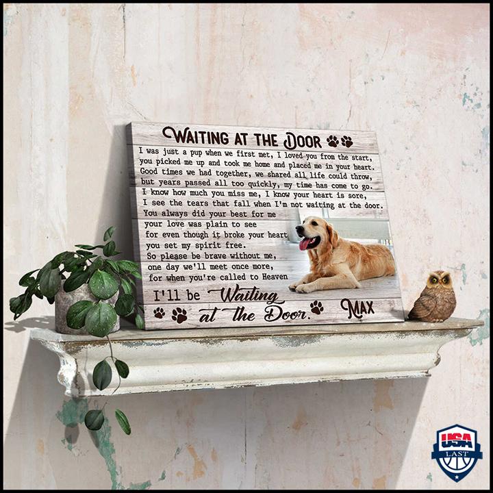Personalized Memorial Pet Photo Waiting At The Door Custom Canvas Prints
