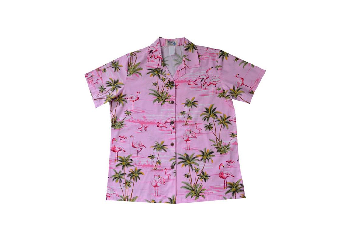 Pink Flamingo Short Sleeve Hawaiian Shirt