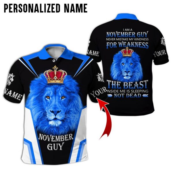 Personalized Name Lion King November Guy 3D All Over Print Shirt