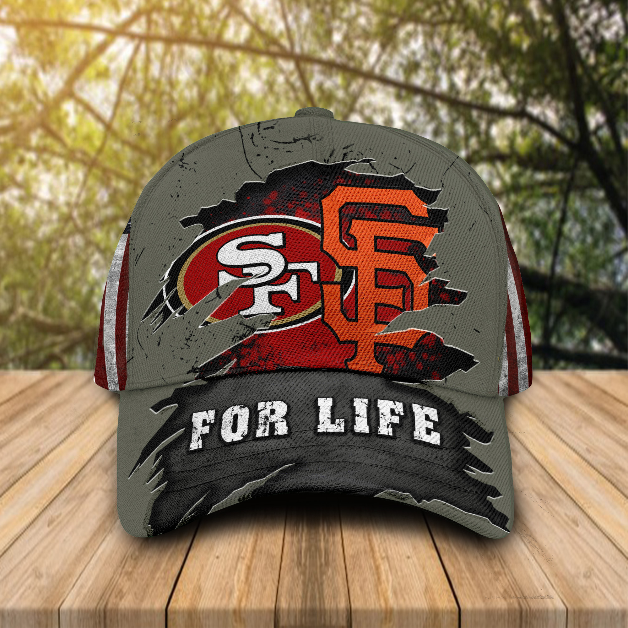 San Francisco 49ers Vs San Francisco Giants For Life Cap