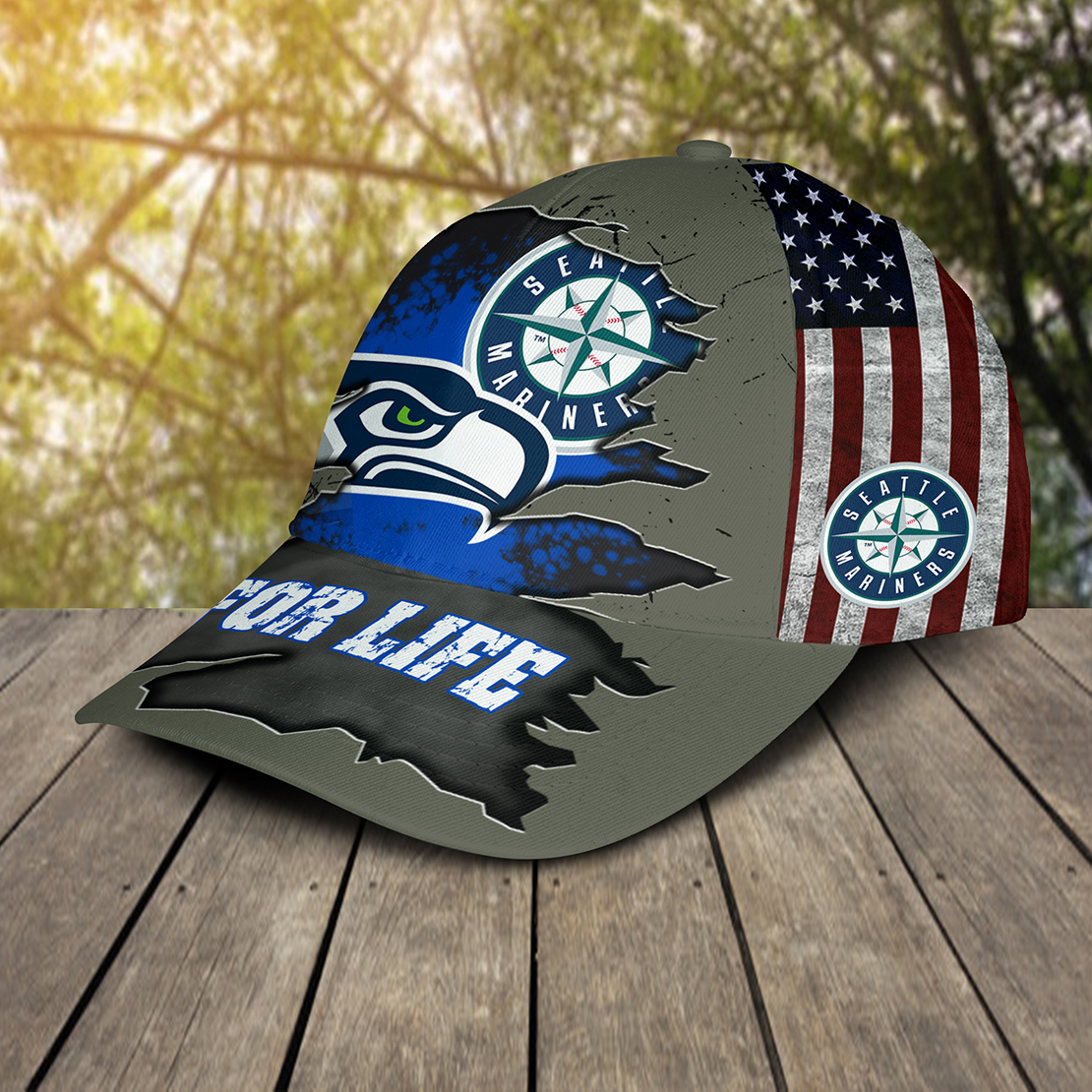 Seattle Mariners For Life Cap Hat