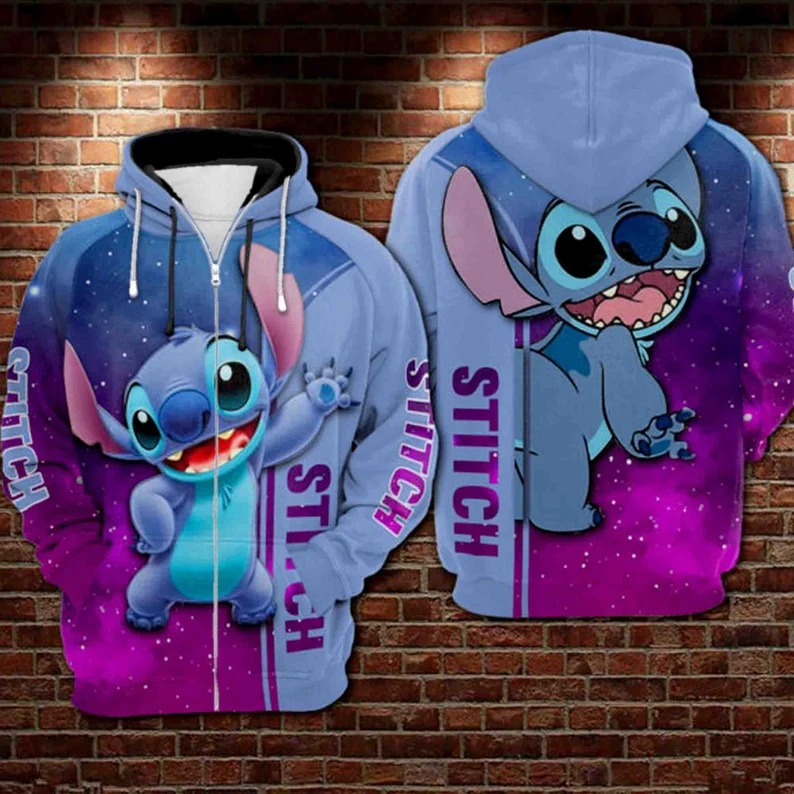 Stitch Galaxy All Over Printed 3d Hoodie