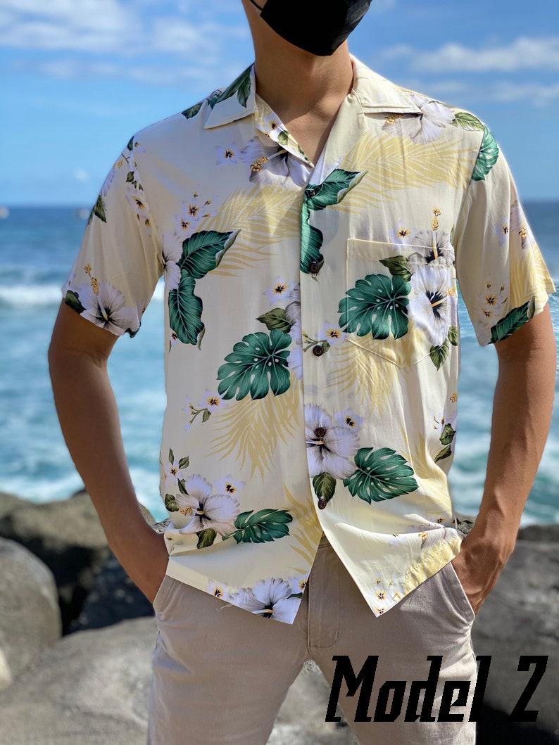 Super Soft Rayon Hawaiian Vintage Hibiscus Aloha Shirt