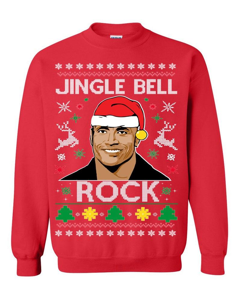 The Rock Jingle Bell Rock Ugly Christmas Sweatshirt